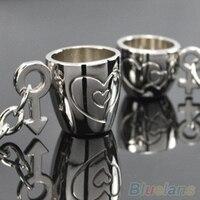 48 개 창조적 연인의 사랑 컵 키 체인 링 열쇠 고리 BY1T