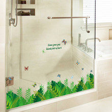 3D Green Plants Printed Wall Stickers