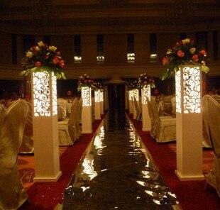 Bruiloft decoratie party road lood kolom groothandel wedding Gesneden romeinse kolom bruiloft props bruiloft levert 6 stks/partij