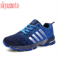 SKYAXMOTO Hot Men Shoes Men Breathable Casula Shoes Men High Quality Lightweight Unisex Lace Mesh Male