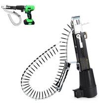 Автоматическая винтовая цепь для маникюрного пистолета, адаптер для электрической дрели, деревообрабатывающий инструмент, беспроводная дрель с 50 винтами