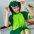 Summer Cartoon Cute Animal Pajamas Cotton Short Sleeved Couple Cosplay Green Dinosaur Pajamas for Men And Women Wholesale
