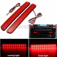 2X 24 LED Rear Bumper Reflector Brake Running Light For Land Rover Discovery 3 LR3 2005
