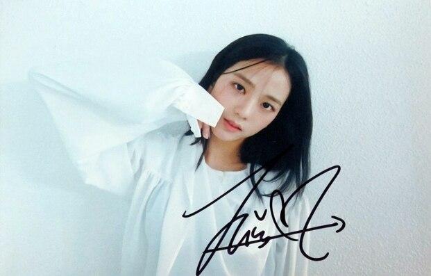 Signed Blackpink Kim Jisoo Autographed Photo Ddu Du Ddu Du 4 6 K Pop