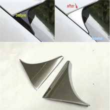 цена на For Nissan Qashqai J11 2014 2015 ABS Rear Spoiler Wing Side Triangle Cover Trim 2pcs / set
