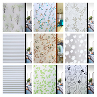 Wide 90cm*Long 100cm Static No Glue Window Film Self Adhesive Privacy Decorative Films Glass Sticker Foil For Kitchen CW03