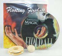 Floating Fireball Gimmick DVD Magic Tricks Ball Levitate Magie Magician Stage Street Illusions Props Funny
