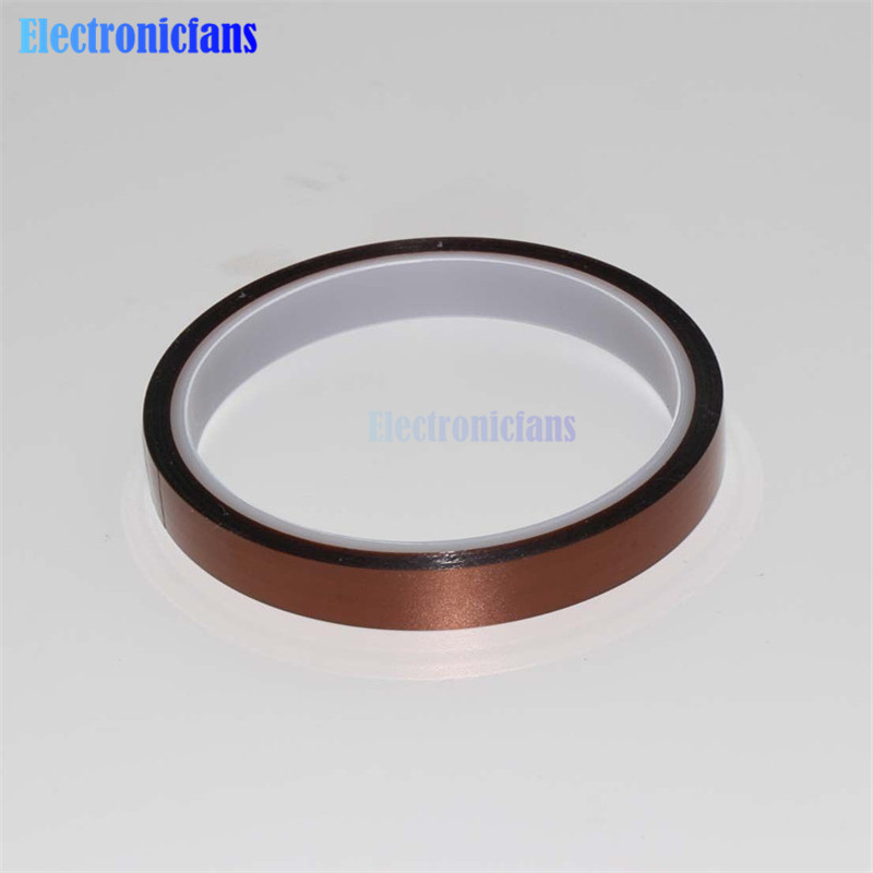 Hot Sale 12mm 1.2cm X 30M High Temperature Heat Resistant Polyimide Anti-heat Adhesive Tape 260-300 Degree