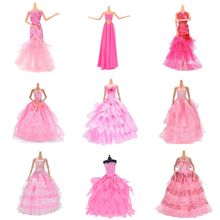 Pink Lace Party Dress Evening Bubble skirt Clothing Outfit Accessories For 1/6 BJD for Doll Accessories Kids Toy Gifts(China)