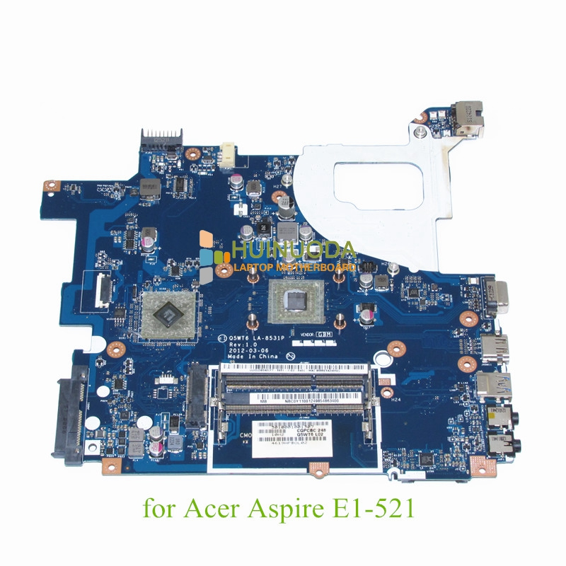 NOKOTION NBC0Y11001 NB.C0Y11.001 Q5WT6 LA-8531P For acer aspire E1-521 Laptop Motherboard E1200 CPU DDR3 nokotion nbm1011002 48 4th03 021 laptop motherboard for acer aspire s3 s3 391 intel i5 2467m cpu ddr3