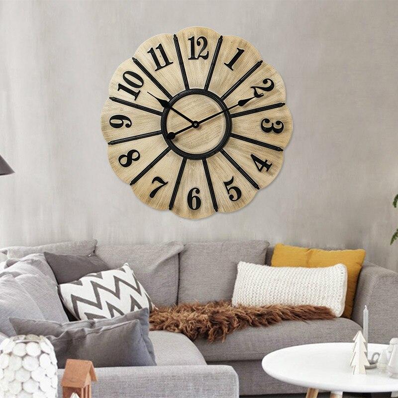 Retro style living room wall clock bar font b watch b font American style big clock