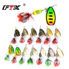 Купить с кэшбэком FTK Fishing Lure Mepps  Spinner weight 17g Jig Inshore Lure leurre souple Treble Hook Metal Hard Lure Wobbler Tackle pesca