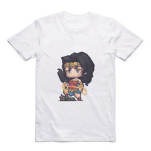 Anime Wonder Woman/Spider-Man/Aquaman T-shirt Superhero Women's Print Modal Top майка print bar aquaman