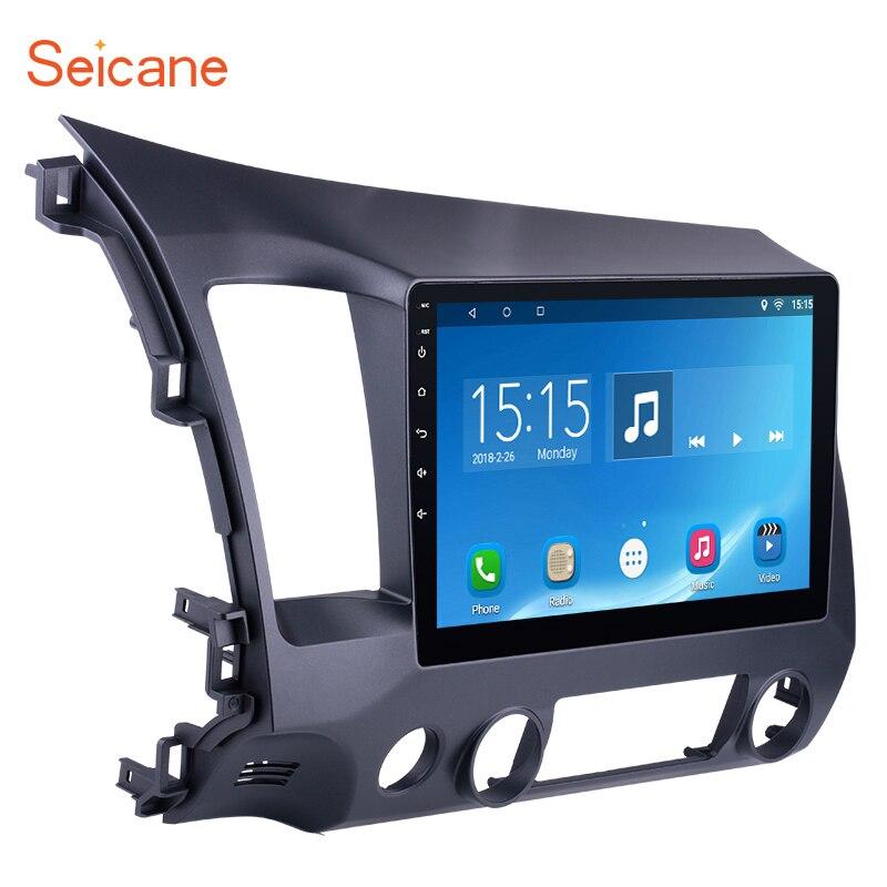 Seicane Android 6.0 10.1 pouce De Voiture Radio 2Din Quad-Core HD 1024*600 Tochscreen Lecteur Multimédia Pour Honda civic