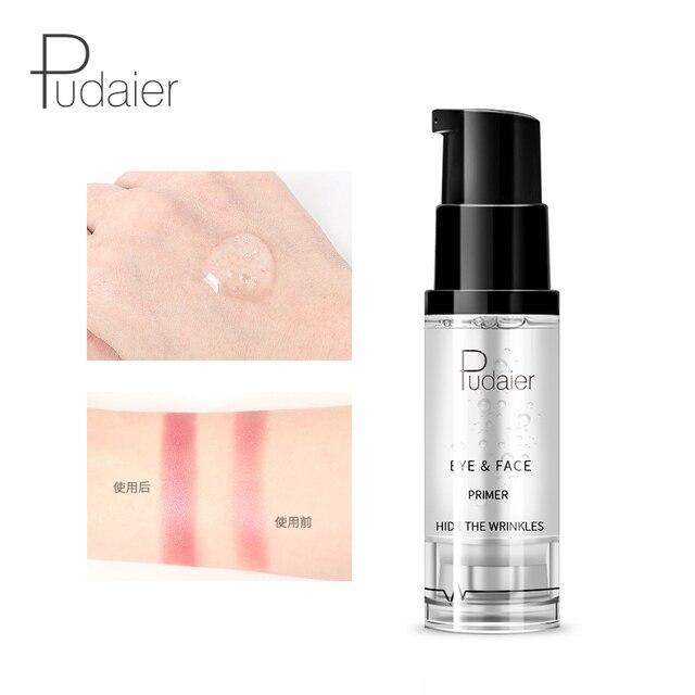 New Makeup Brand Pudaier Easy to Wear Liquid Primer for Face Eye Makeup Moisturizer Brighten Base Primer Cosmetics