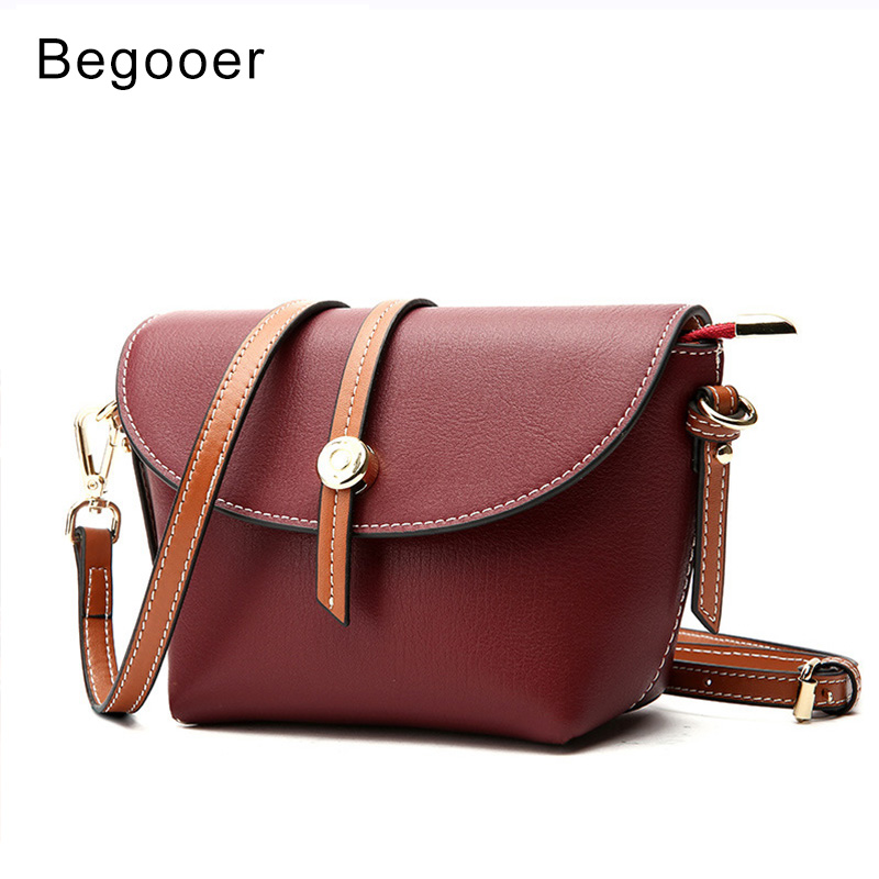 b67f63c4b57f BEGOOER 2018 New Genuine Leather Women Shoulder Bags Small Crossbody bags  for Fashion Panelled Mini Messenger Bag