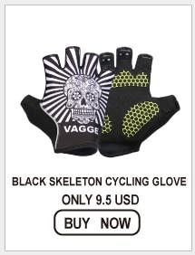 BLACK SKELETON CYCLING GLOVE
