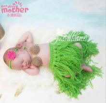 3PCS Cute Costumes For Newborn dress Wool Sets Handmade Crochet Clothes Infant Props Baby Photography Clothing Good Quality