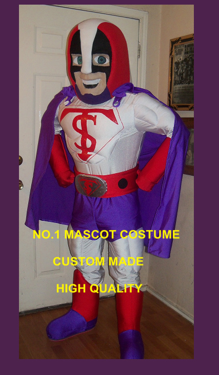 Masked Superhero Mascot Costume Adult Anime Cosply Costumes Super Man Theme Cartoon Carnival Party Mascotte Fancy Dress 1796