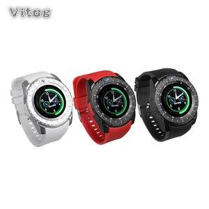 Image 1 - Inteligentny zegarek V8s mężczyźni Bluetooth Sport zegarki damskie panie Rel gio smartwatch z kamerą gniazdo karty sim telefon z systemem android PK DZ09 A1