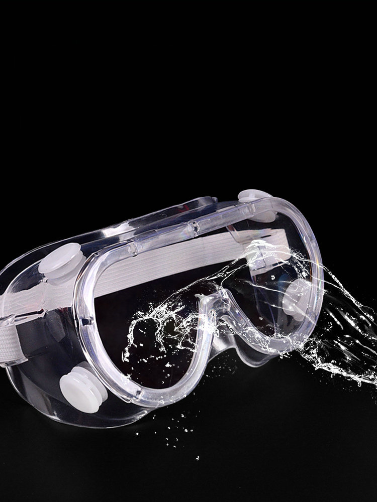 Fire Protection Transparent Goggles Labor Protection Splash Sand Windproof Outdoor Riding Chemical Laboratory Protective Glasses