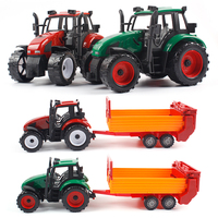 Children Farmer Car Agricultural Tractor Transport Inertia Toy Car Model