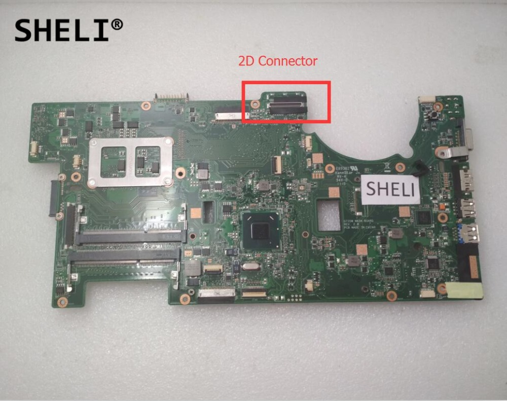 SHELI For ASUS G73SW Motherboard 2D Connector 60-N31MB1000-C08 4 Memory SlotsSHELI For ASUS G73SW Motherboard 2D Connector 60-N31MB1000-C08 4 Memory Slots