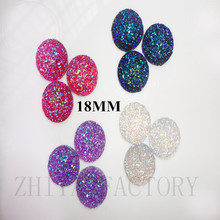 DIY MIX 18MM flatback Resin Rhinestone cabochon resin stone beads for  charms bague femme earrings   ring jewelry making 451fc5a1c9f7