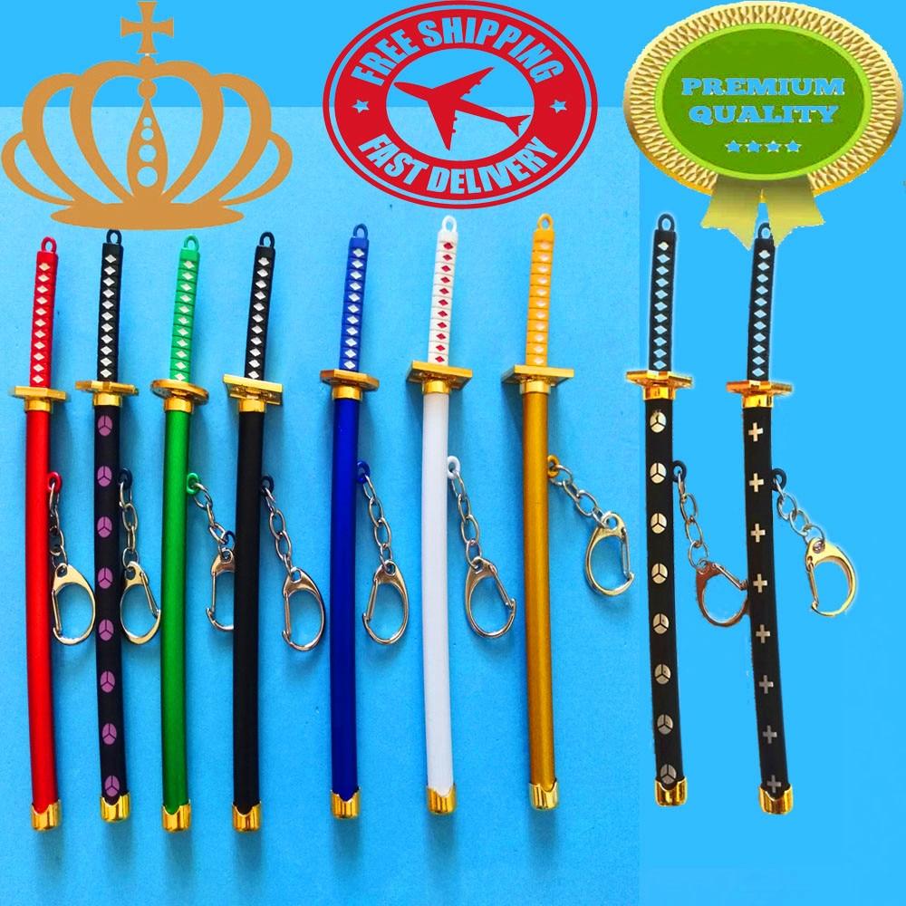 1Pcs15cm Exquisite Mini Weapons Model Sheathed Knife Clasp Japanese Samurai Sword Keychain Gun Keychain Anime Props Pendant