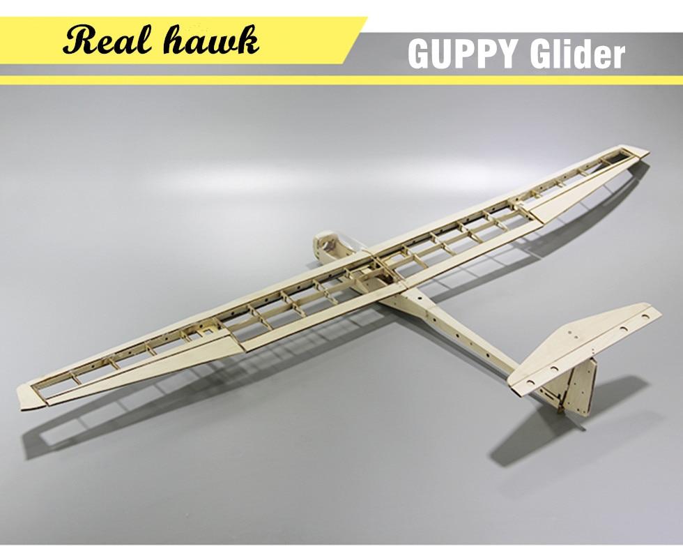 RC самолет лазерная резка пробкового дерева самолет комплект размах крыльев 1040 мм Гуппи планер рама без крышки модель здания комплект
