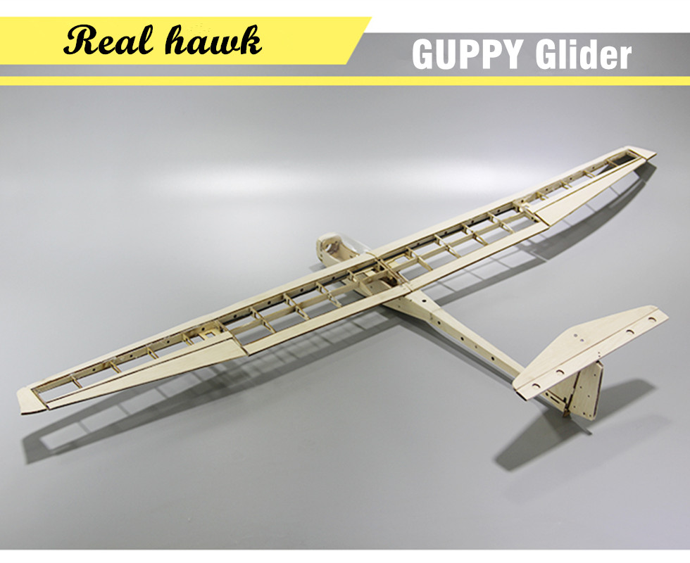 RC Plane Laser Cut Balsa Wood Airplane Kit Wingspan 1040mm GUPPY Glider Frame without Cover Model Building Kit цена