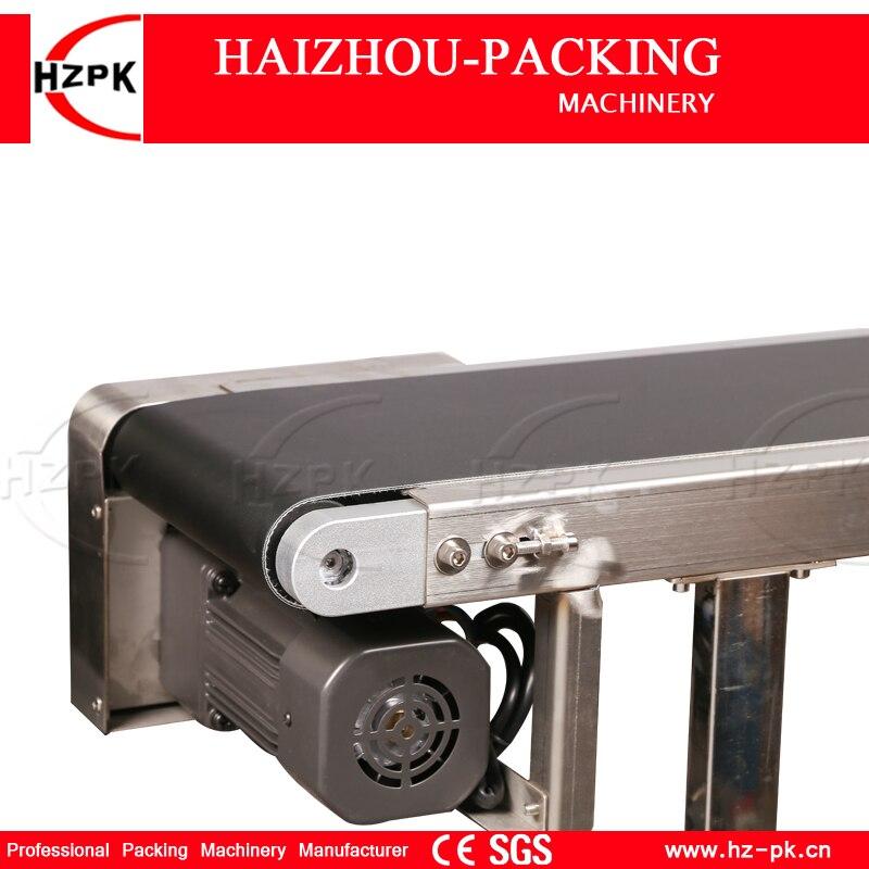 Купить с кэшбэком HZPK Inkjet Printer Conveyor Use Vertical Band Carrier Machine Belt Conveyor For Bottles/Bag Food Products Production Line L1.5m