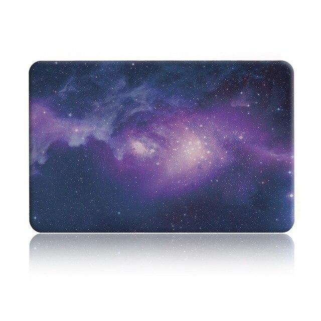 Для MacBook Case New Резина Покрытием для MacBook air Pro Retina 13 дюймов Retina Display Звездное небо С Резиновым Покрытием Крышки