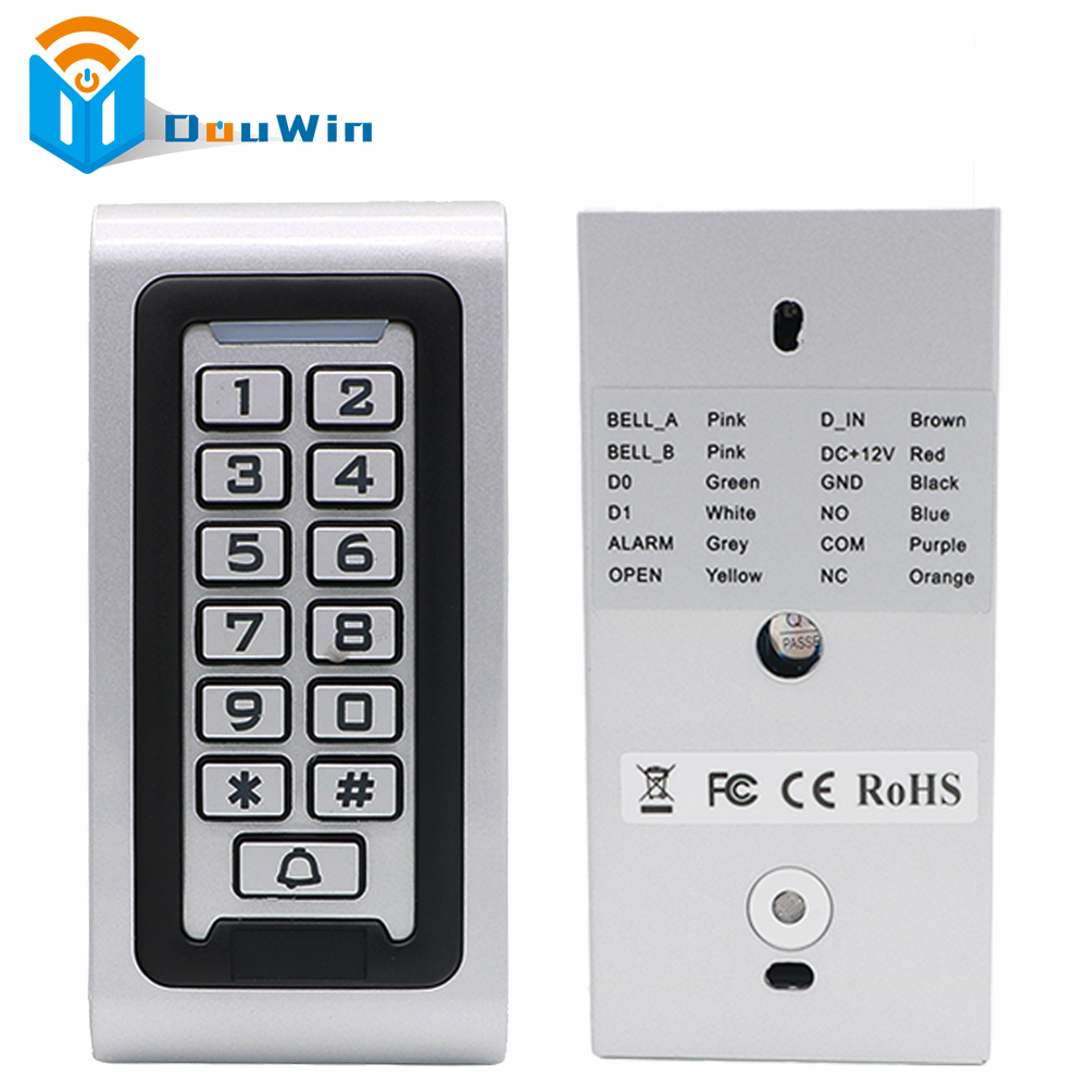 RFID 125KHz Access Controller Reader Keypad With Metal Case High-performance Metal Standalone Access Control Winte free shipping c40 125khz rfid password metal case touch keyboard led light access controller 10pcs crystal keyfobs
