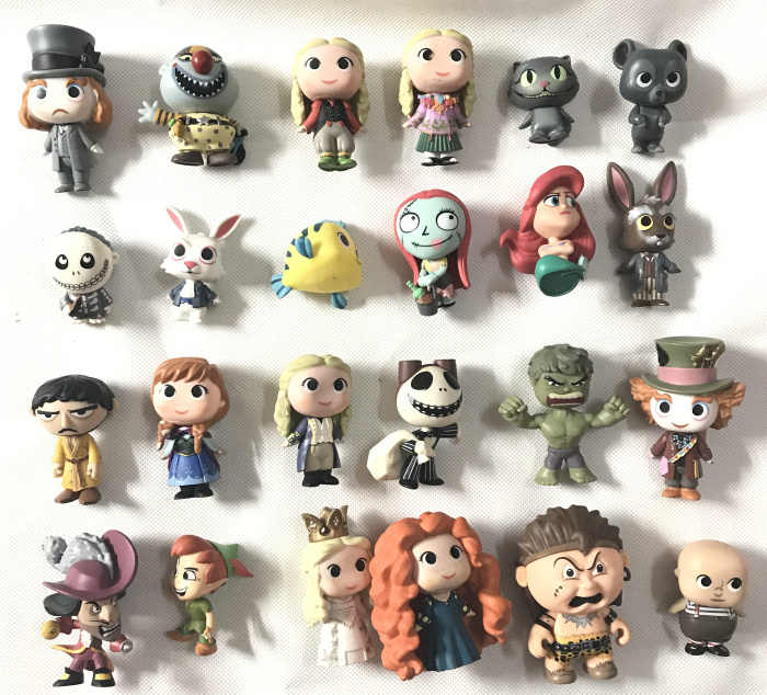 Originele Funko Mystery Minis: Alice, Kat, Hulk, Nightmare - Jack, Sally, peter Pan Vinyl Figures Collectible Model Losse Speelgoed