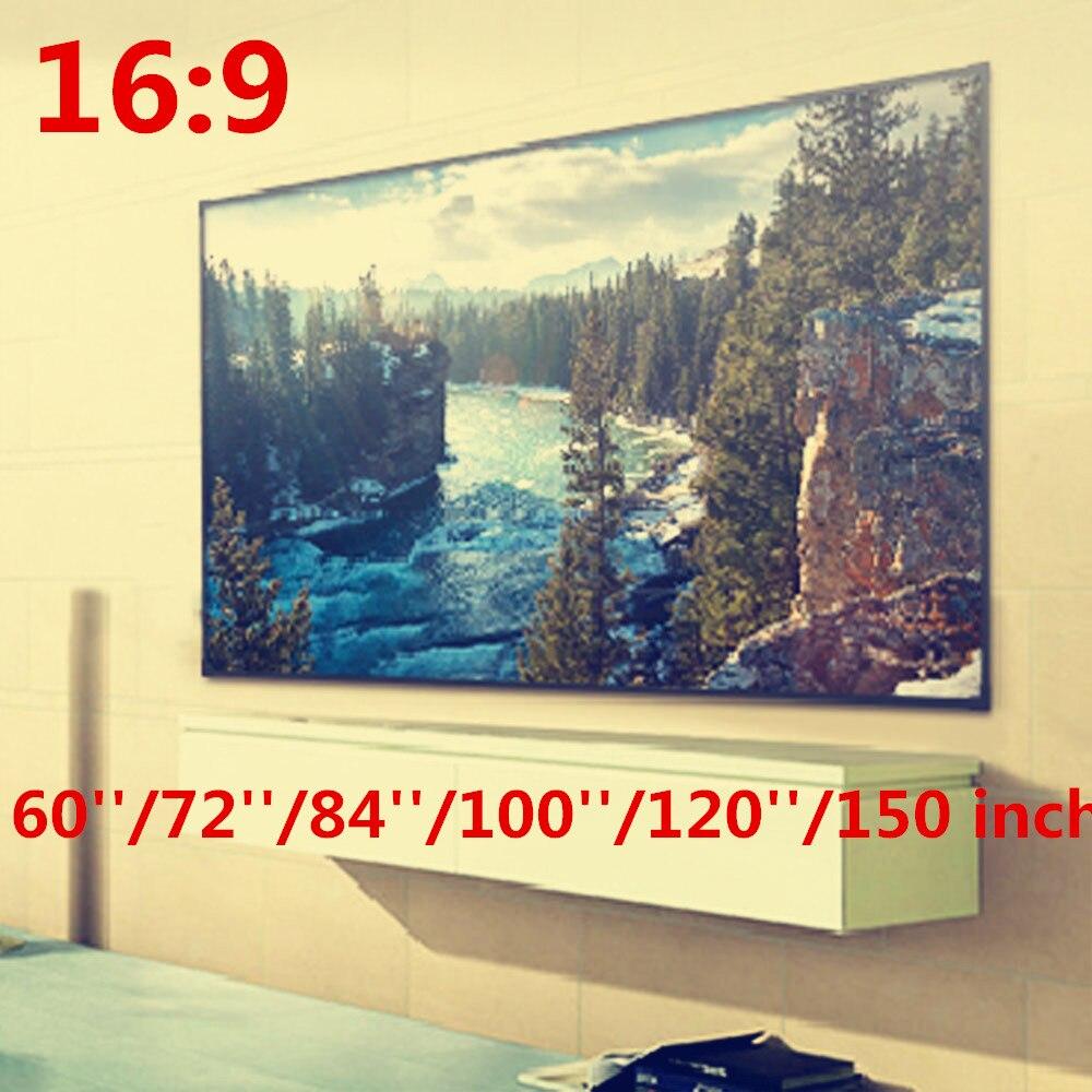 Proyector plegable 16:9 60 72 84 100 120 150 pulgadas pantalla de proyección blanca para proyector HD Cine en Casa películas fiesta