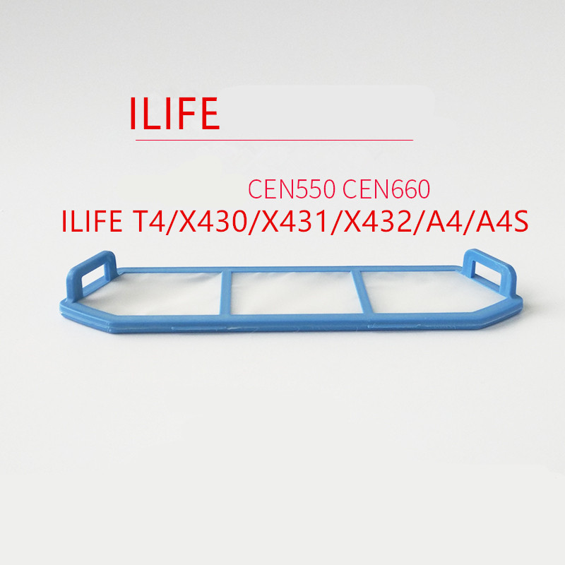 1PCS Original Robot vacuum cleaner Primary filter for ILIFE T4 A4 A4S X430 X431 X432 A4s Vacuum Cleaner Parts retro british flag pattern protective plastic back case for iphone 5 blue red