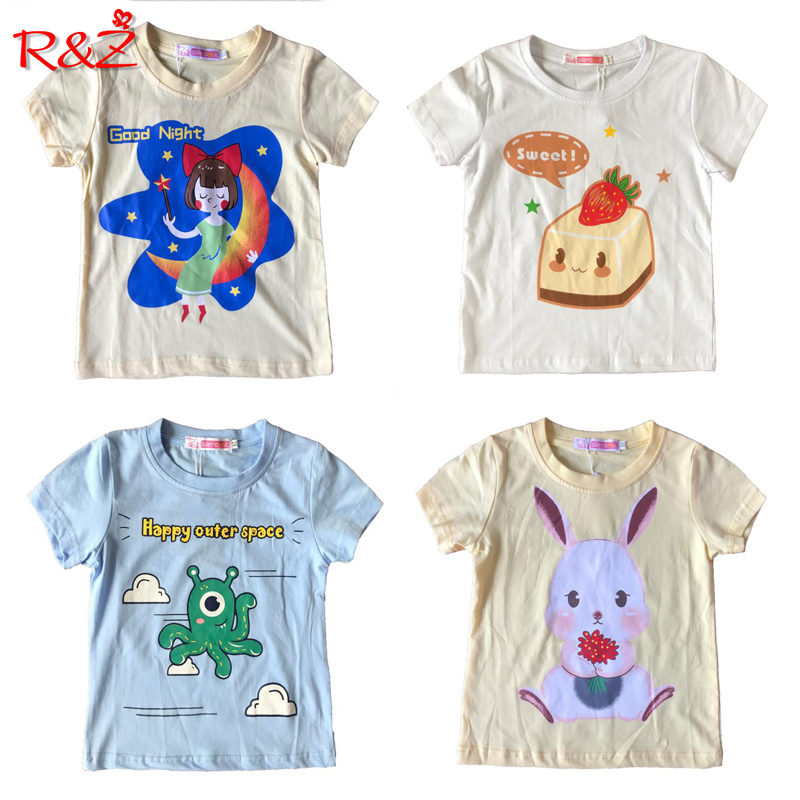 Boy T Shirt Summer Girl Top Bendy Girl Shirt Original Design Cotton Children's Wear 0-7 Years Old Baby T-shirt Cartoon Animals(China)