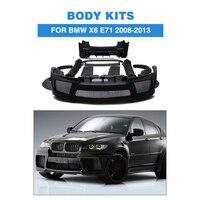 FRP черный грунт автомобильные аксессуары тела Наборы для BMW E71 X6 xDrive 35i 50i 50iA M Sport внедорожник 4 двери 2008 2013