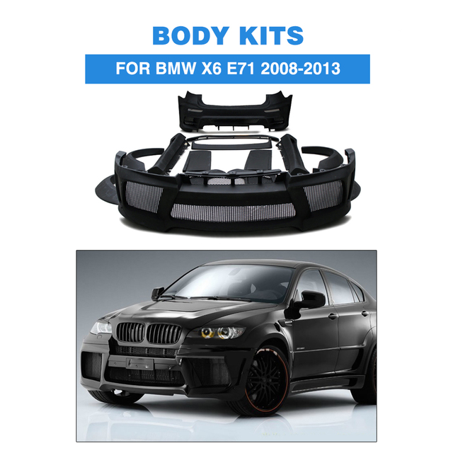 Frp Black Primer Car Accessories Body Kits For Bmw E71 X6 Xdrive 35i