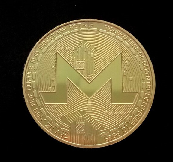 Gold/Silver-Plated Monero Coin Commemorative Coin Art Collection Gift Physical Metal Imitation Home Party Decoration