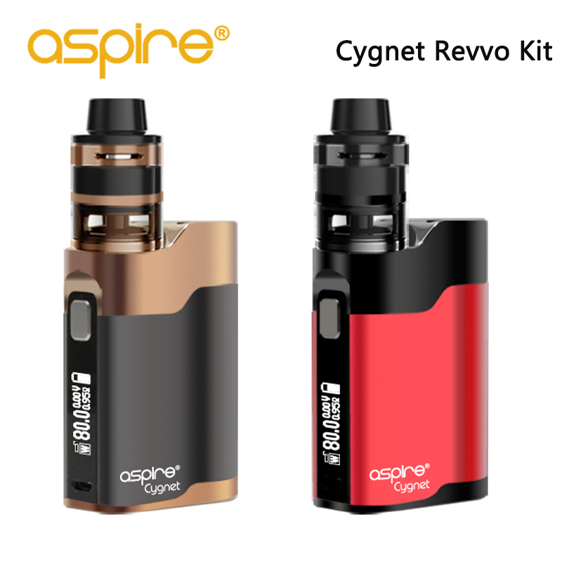 Aspire Cygnet Revvo Vape Kit 2ml revvo mini tank 80w 0.86inch OLED screen 510 thread fit ARC mini coil Electronic Cigarette original aspire feedlink revvo squonk kit with 80w revvo squonk mod 2ml revvo boost vaporizer tank arc coil aspire vape kit