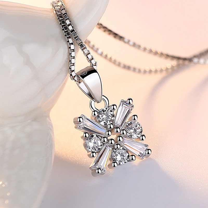 Sterling Silver 925 Pendant Women Fashion No Defect Natural Freshwater Pearl Necklace Sweet Fairy Jewelry