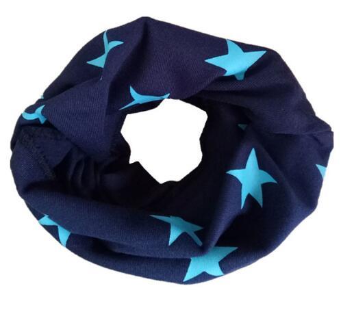 Новинка; сезон осень-зима; шарф из хлопка для девочек; Детский шарф; нагрудный шарф для мальчиков и девочек с круглым кольцом; милый детский шарф с воротником; Bufandas - Цвет: navy blue star