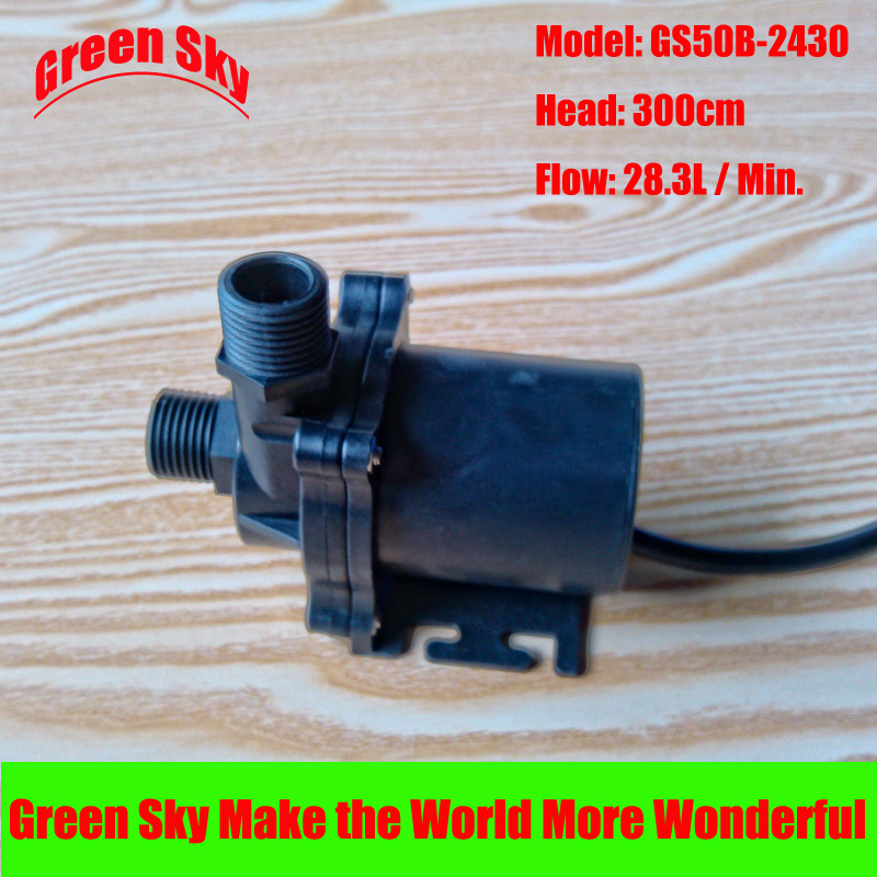 28.3L/Min 300cm Head 24V DC 36W Submersible fountain aquarium circulation brushless mini water circulation pump free shipping new 220v ylj 500 500l h 8w submersible water pump aquarium fountain fish tank power saving copper wire
