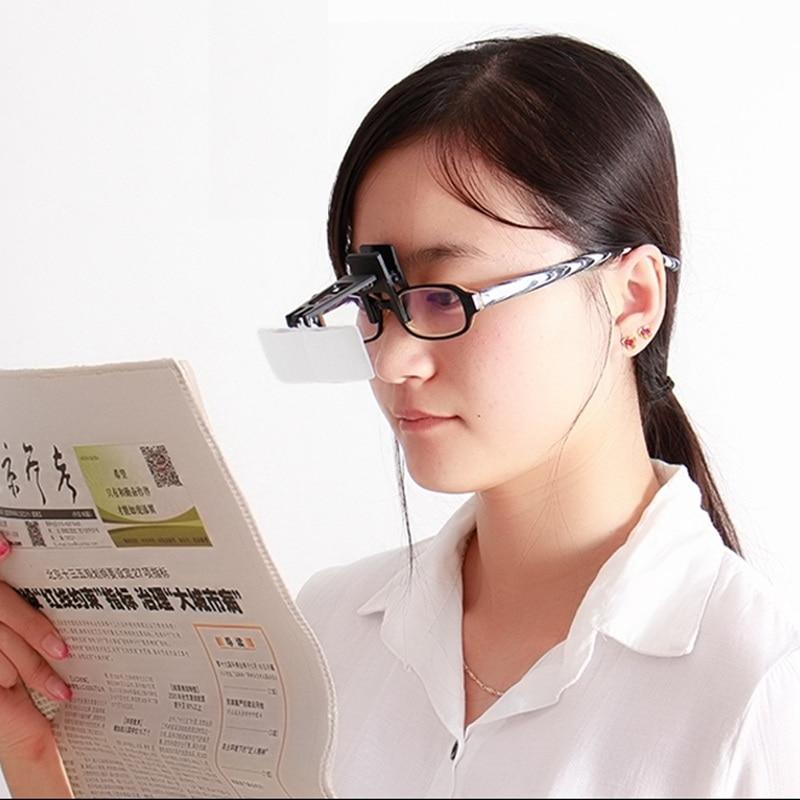 1,5x2,5x 3,5x sulankstomas akinių spaustukas ant apversto lupa - Matavimo prietaisai - Nuotrauka 6