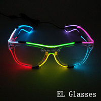 Parlayan 8 Renk EL Gözlük plastik Yanıp Sönen LED Gözlük Neon Işık Masquerade Cadılar Bayramı Sahne Cosplay Parti Dekorasyon