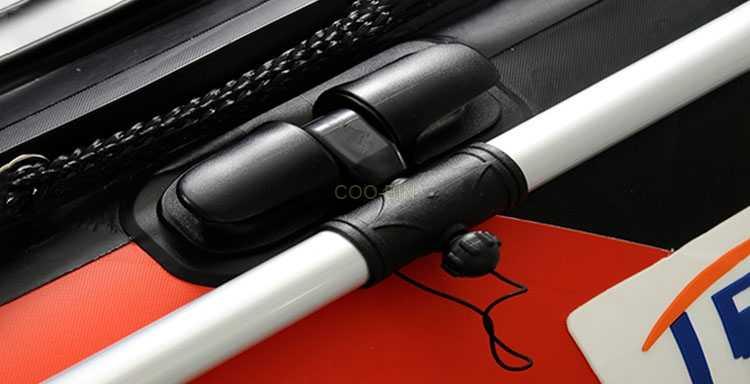 Stainless Steel Perahu Dayung Braket Pemasangan PVC Jangkar Pemegang untuk Dayung Perahu Karet Kayak Rakit Perahu Dayung Kunci Tuas