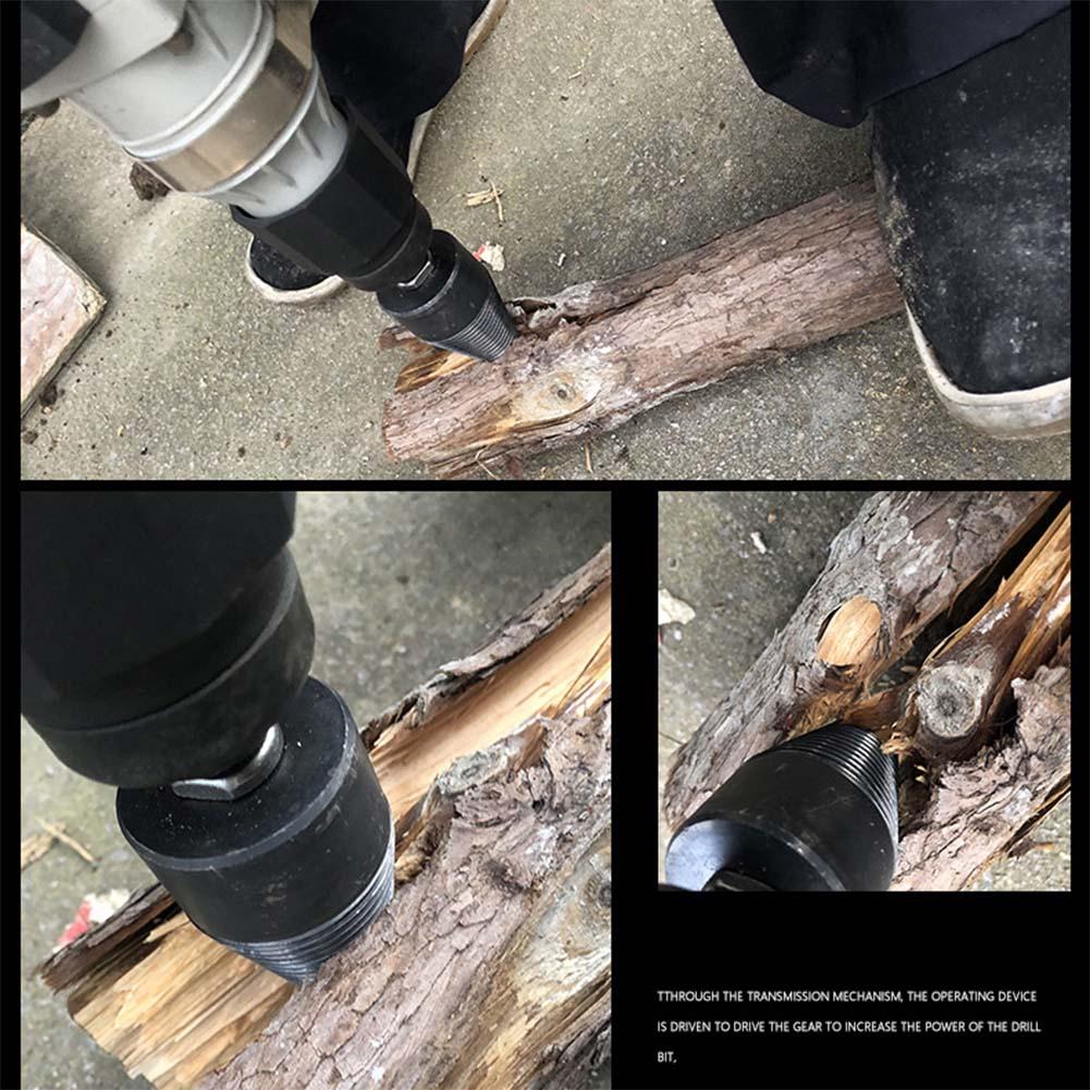 Image 5 - High Speed Twist Drill Bit Wood Splitter Screw Cones Splitting Bit Wood Drill 32/42MM Square Round Hexagonal Family Camping FarmDrill Bits   -
