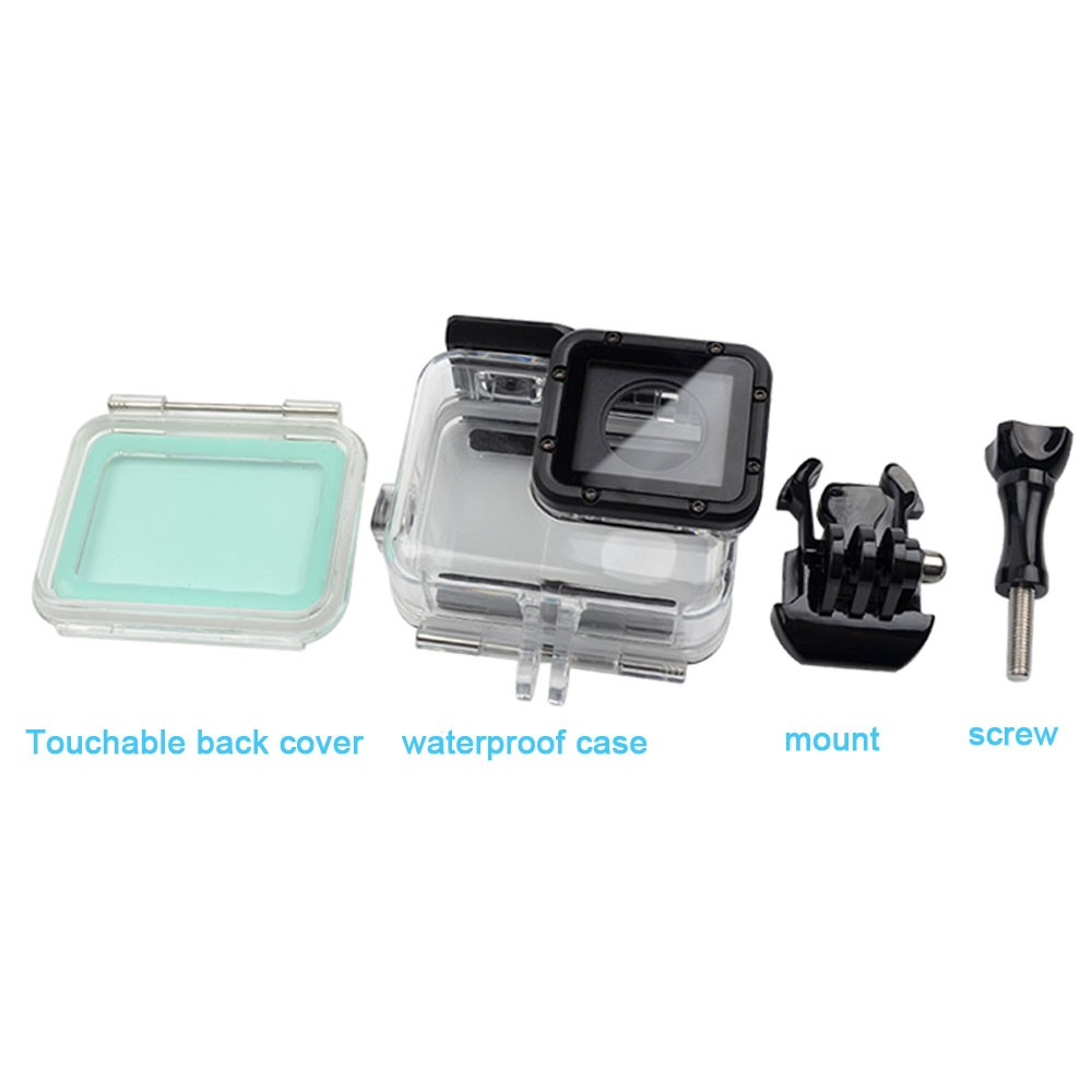 ZJM for GoPro Hero5 Black Edition accessories with Touchable back cover 60M Waterproof Underwater Diving Protective Housing Case